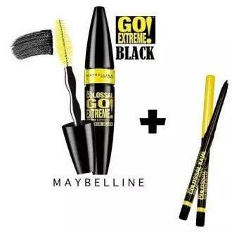 36cdfed1a8a Mascara Maybelline Colossal Go Extreme Leather With Eyeliners - Black