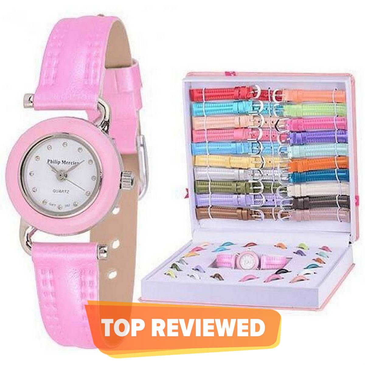 Watchify Multicolor Interchangeable Watch Gift Set  for Girls - 6 Dial & Strap WH769