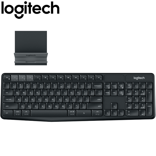 Logitech K375s Multi Device Wireless Keyboard with Mobile Stand