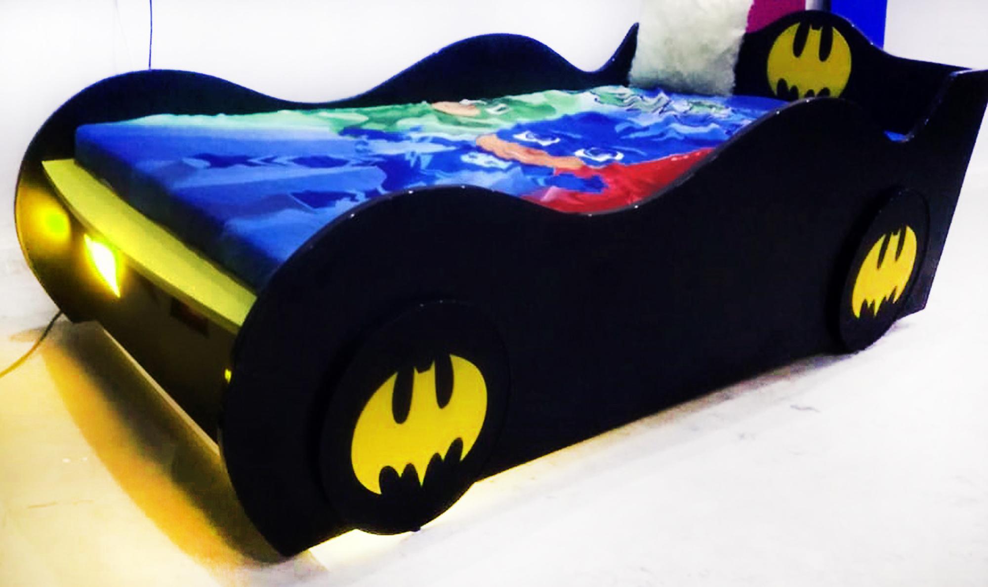 BatMan Single Car Bed For Boys