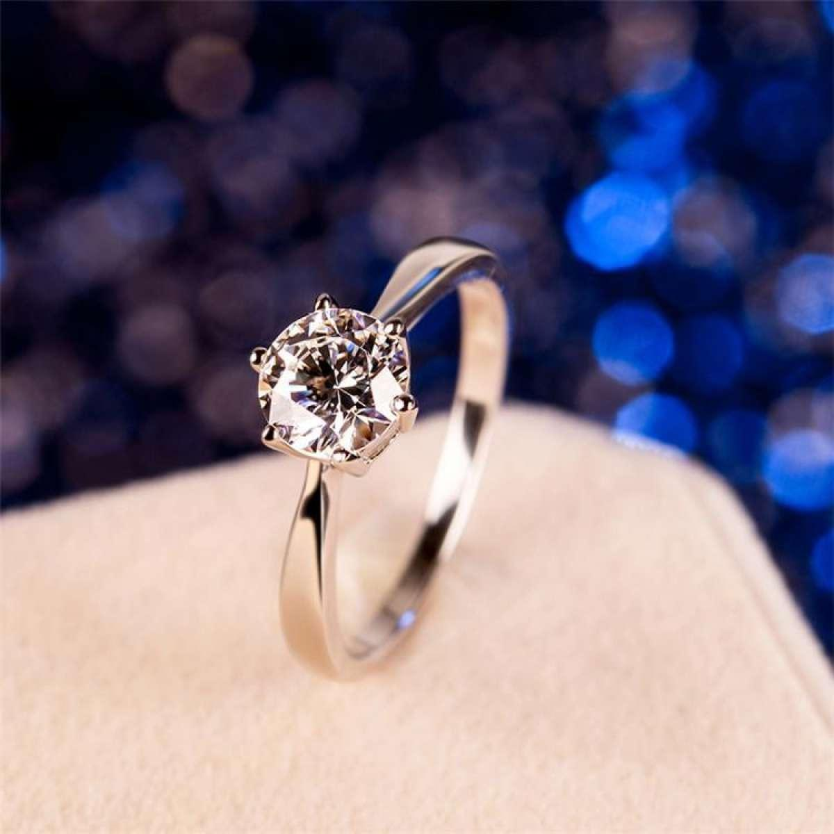 Valentine Gift Fashion Jewellery Copper AAA Zircon Wedding Engagement Promise Rings for Women / Girls