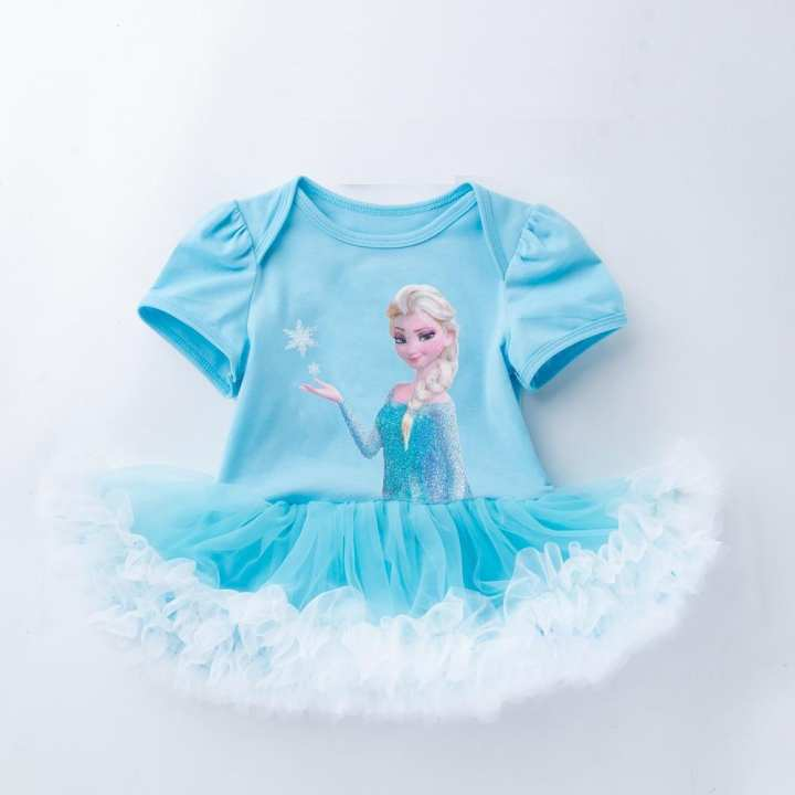 PRINCESS ELSA PRINTED TUTU DRESS ( 0 - 24 MONTHS)