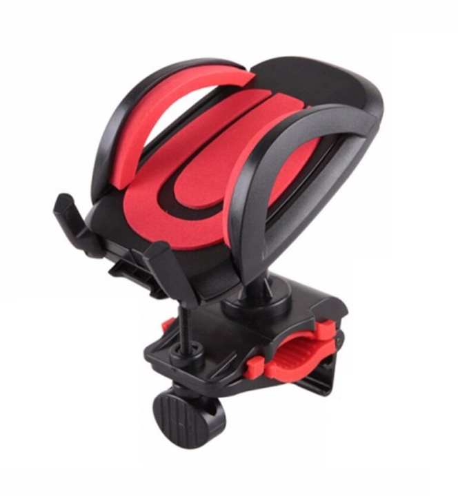 Universal Bike Mobile Phone Holder Stand in Red Color