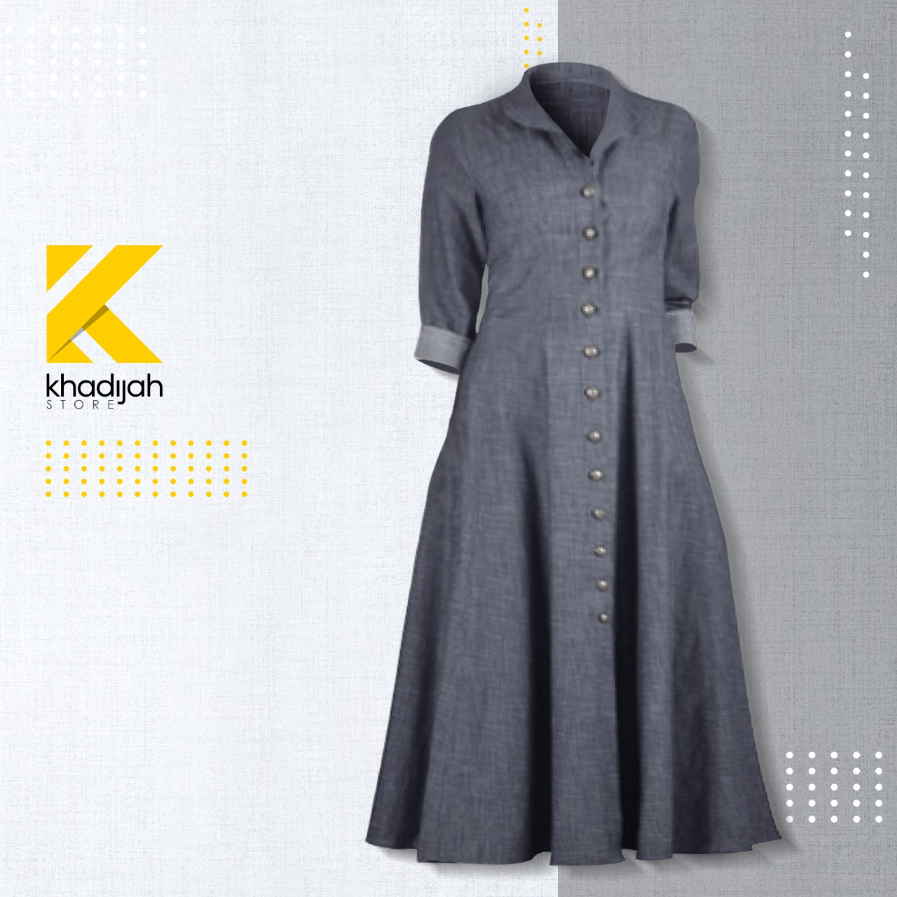 KHADIJAH STORE - New Style & Trending Muslim Wear Maxican Style Denim Abaya for Girls