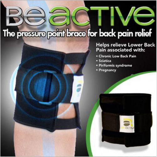 Be Active Lower Back Relief Brace Pressure Point Wrap Protect Knee,