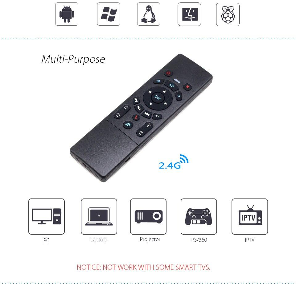 2 4G Mini Wireless Keyboard Air Mouse with Multi-Function Touchpad for  Android TV Box / Mini PC / Projectors / Laptops