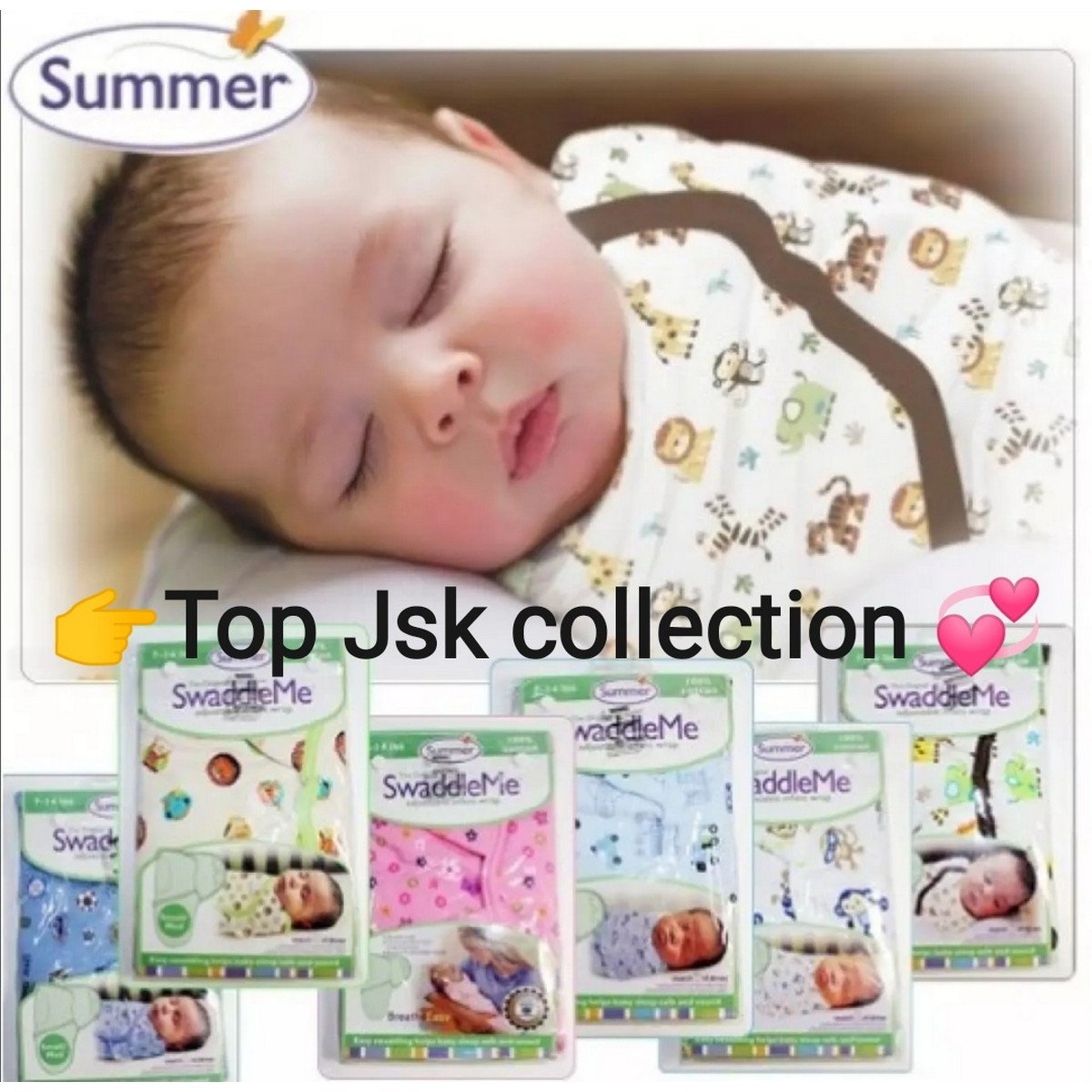 Summer Swaddle Assorted Design 100% Soft Cotton Ultra Comfort Swaddle Wrapping Sheet
