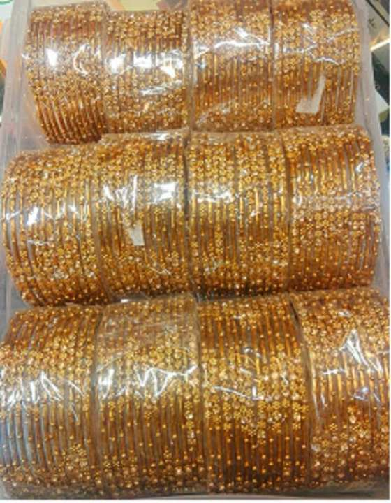 Gold Plated Indian Bangle 12 pcs (1 Dozen) 2.50 size