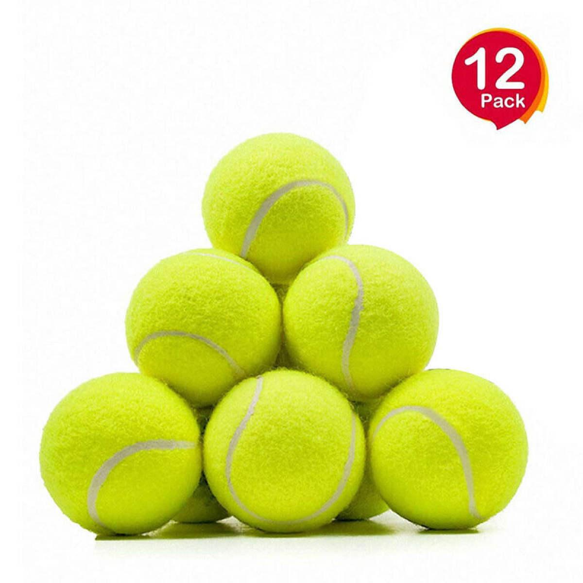 12 Pack - Tennis Balls For Kids - Cricket Balls Multi color.