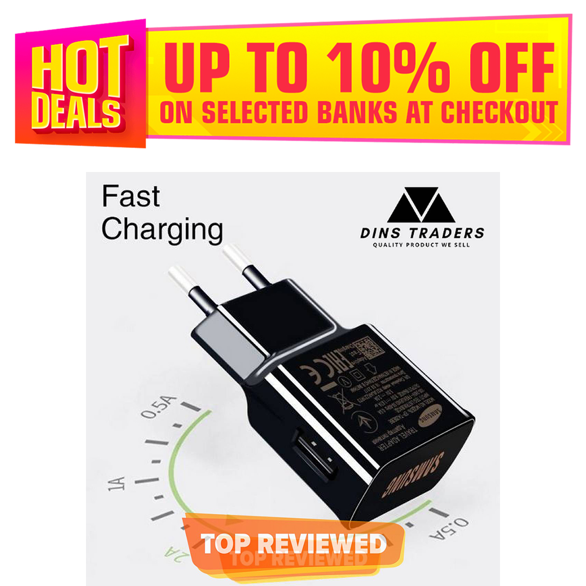 15W Adaptive Fast Charger for Android