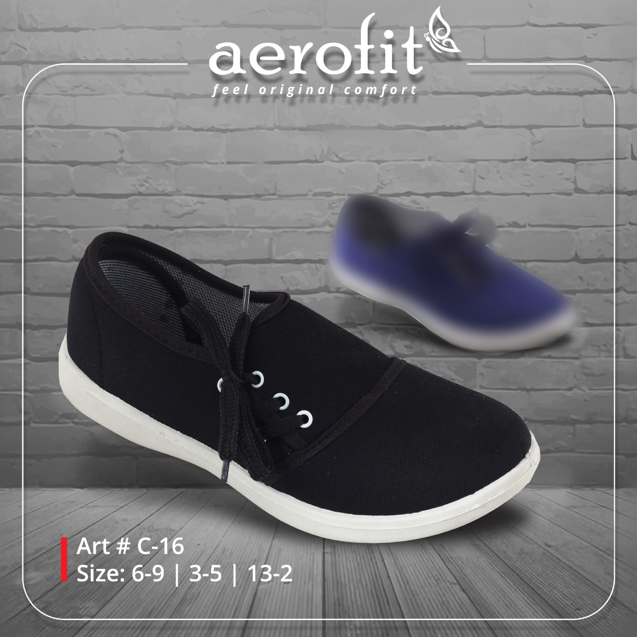 Black Side Lace Canvas Shoes for Girls & Women