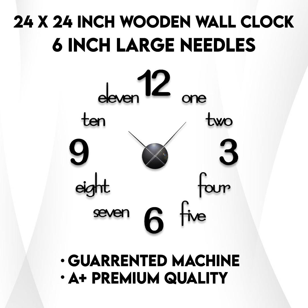Wall Clock - Wooden Wall Clock - Wall clocks for bedroom  - Wall Clocks for drawing room -  Wooden Wall Clocks for bedroom