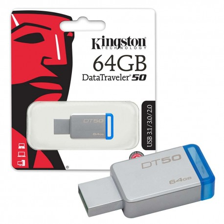 Kingston 64 GB USB - 1 Year warranty - Data traveler USB Device 3.0