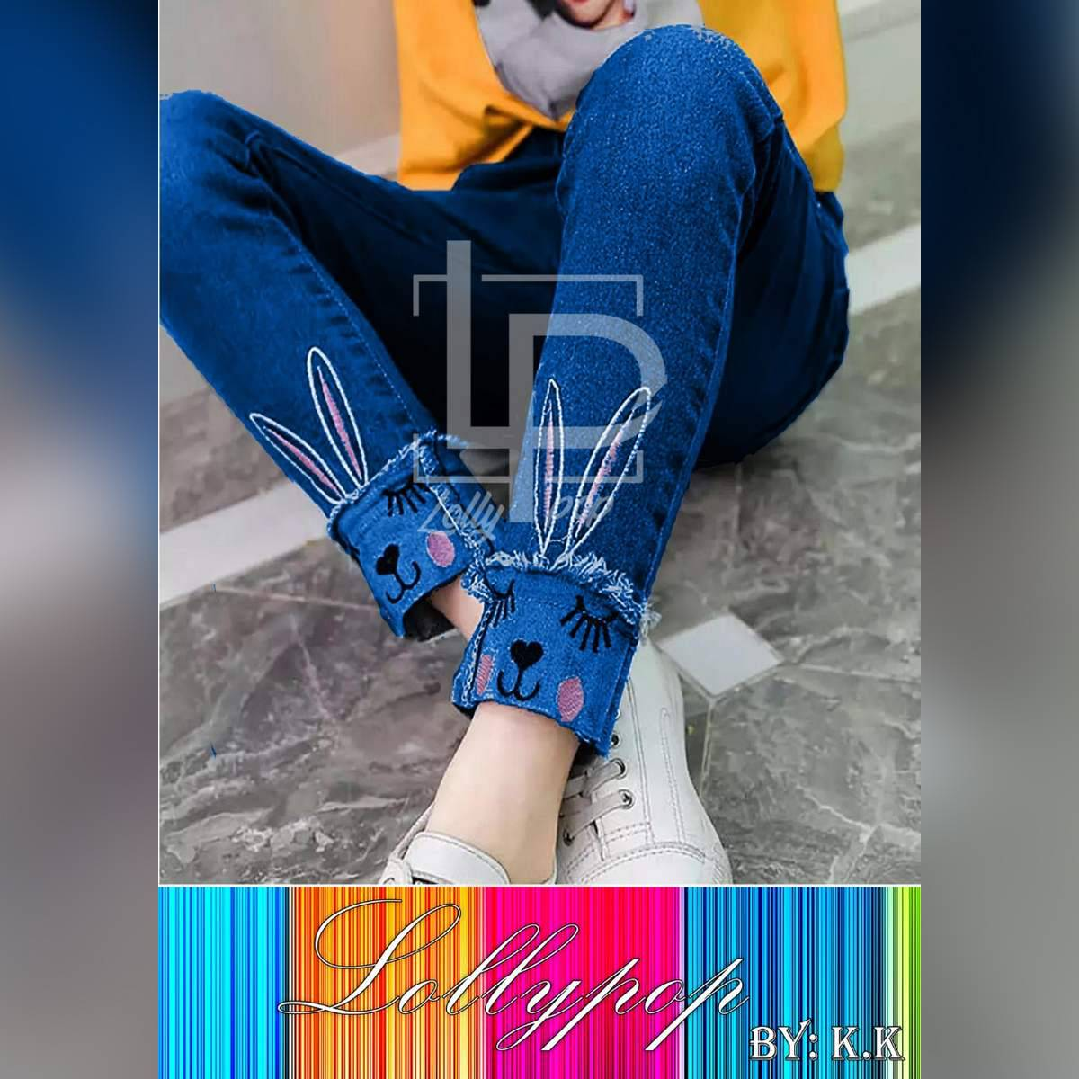 Rabbit Style Jeans For Girls by Daur Collection