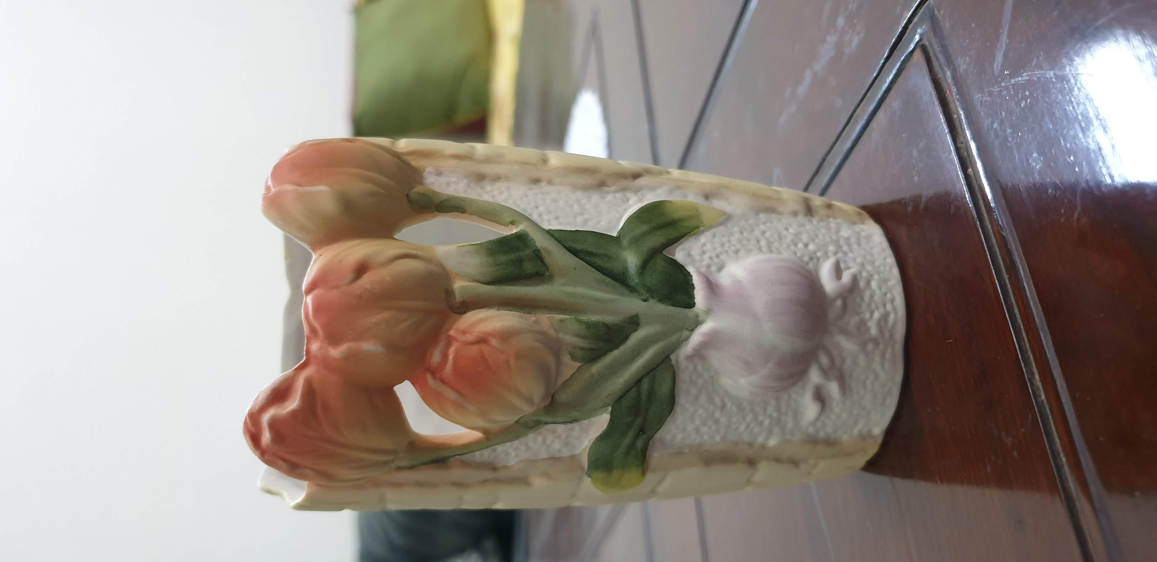 Beautiful White and Orange Ceramic vase