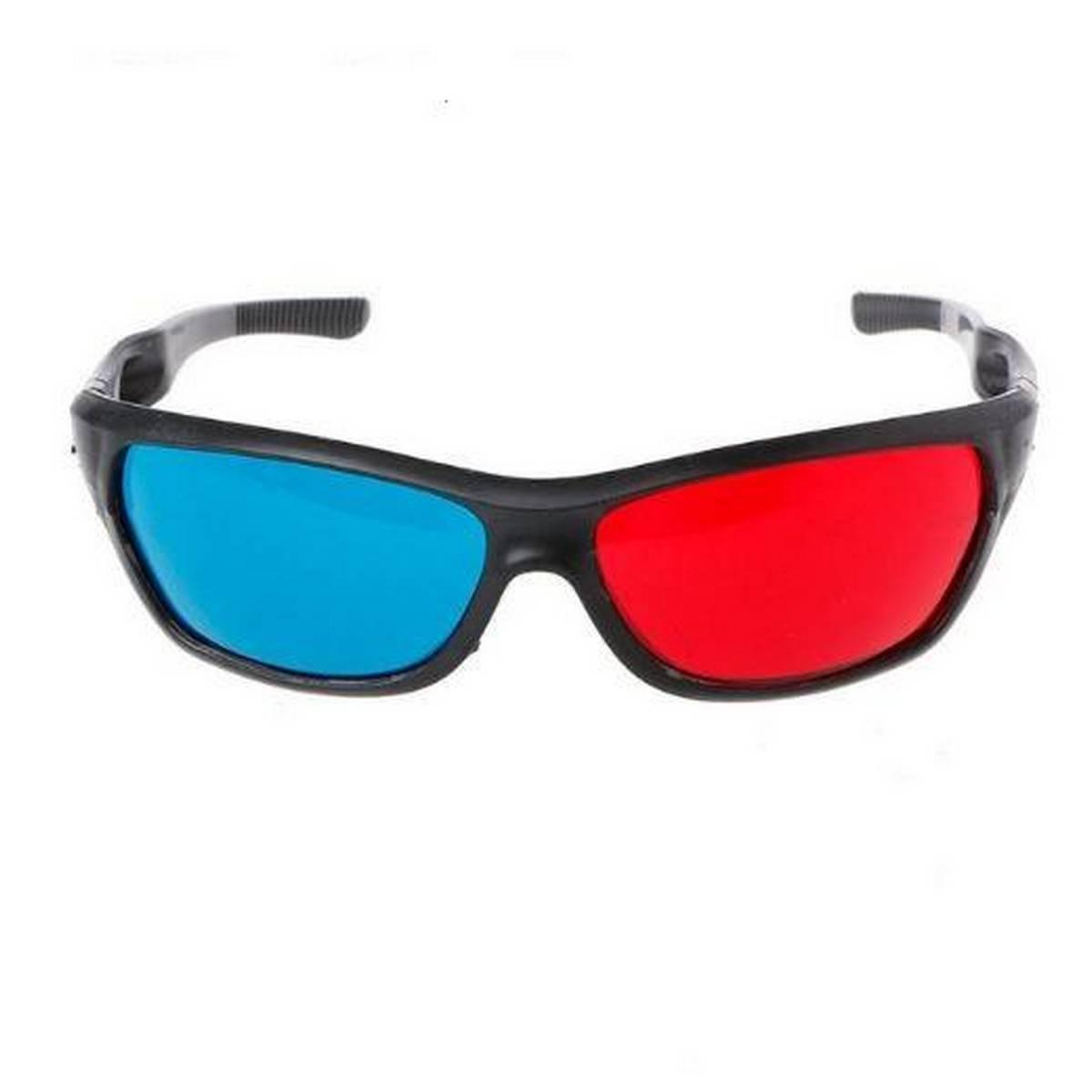 3D Glasses Universal Black Frame Red Blue Anaglyph 3D Glasses For Movie Game DVD Video TV