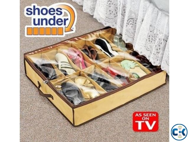 Underbed Storage Bag Home Storage Organizer Under The Bed Organizer Fits for Kids Men & Women Clothes /Shoes 12 Shoes Under Bed  Shoe Organizer Bag Foam Fabric Sheet with Clear Plastic Zip Cover,Hanging Bag-Beige,fit 12 pairs of shoes/slippers StorageBag