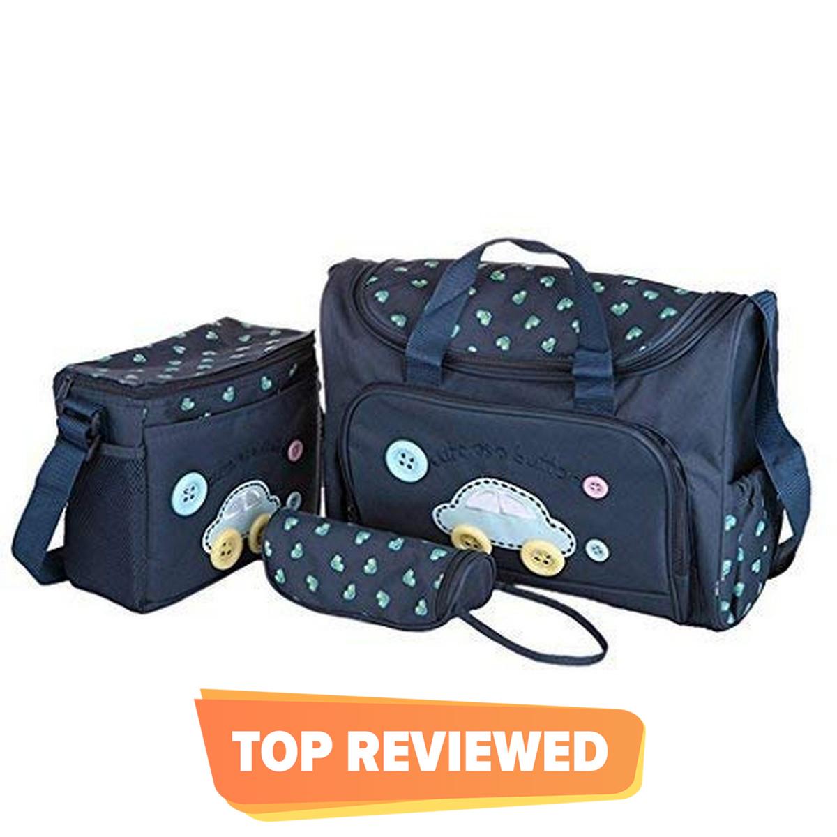 Diaper Baby Bag Set Of   4 Pcs (Navy Blue Color)