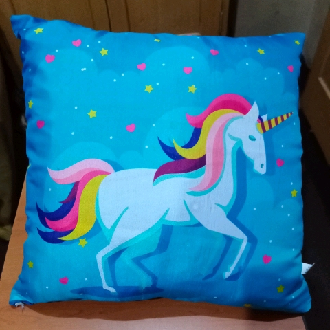 Cushion for kids with cover and filling