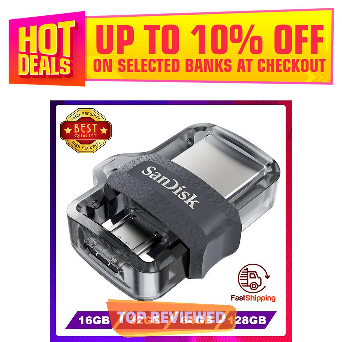 SanDisk USB Flash Drive OTG 16GB 32GB 64GB 128GB USB 3.0 Dual Mini Pen Drives PenDrives for PC and Smart phones