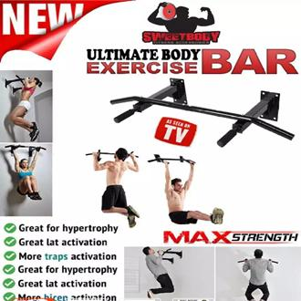 Ultimate Body Press Wall mounted Pull up Bar/ Chin Up Bar - 3 Grips