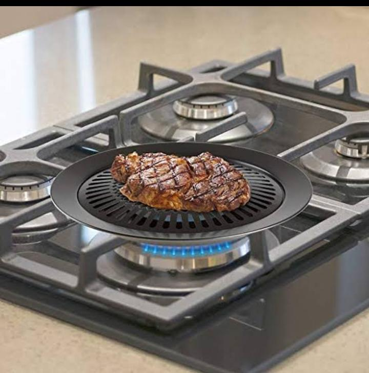 Stove Top Grill Kitchen Home Stove Top Smokeless Grill Indoor Bbq Stainless Steel With Double Coated Non Stick Surface Chef Buddy Smokeless Indoor Stove Top Grill Stove Top Barbecue Grill