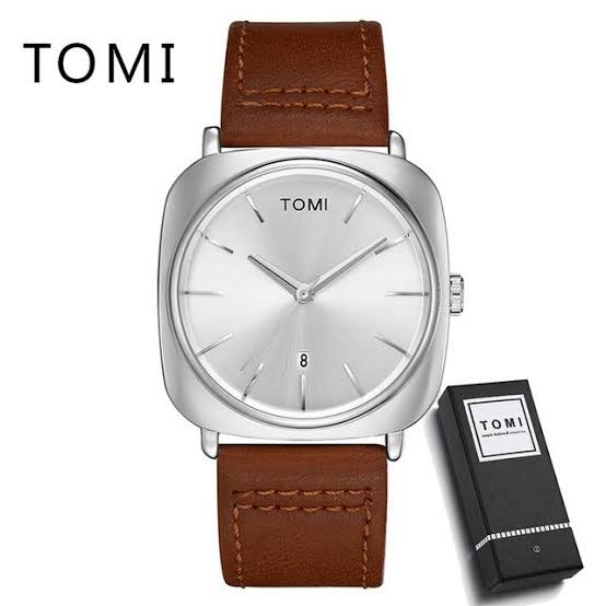 Tomi Watch For Men's   Date Display   Brown Straps Water Resistant