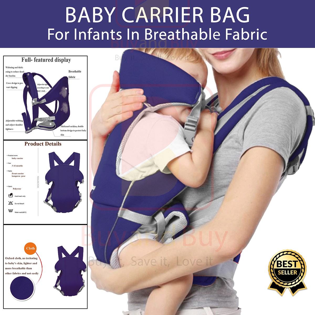 2 In 1 Baby Carrier Bag Baba Carry