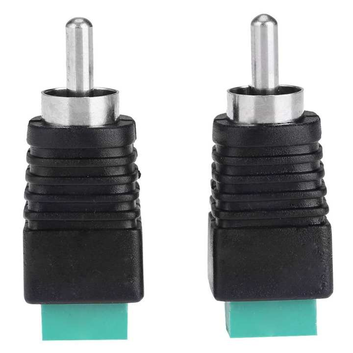 Sunborui 2pcs Speaker Wire Cable to Audio Male RCA Connectors Adapters Jack Plug