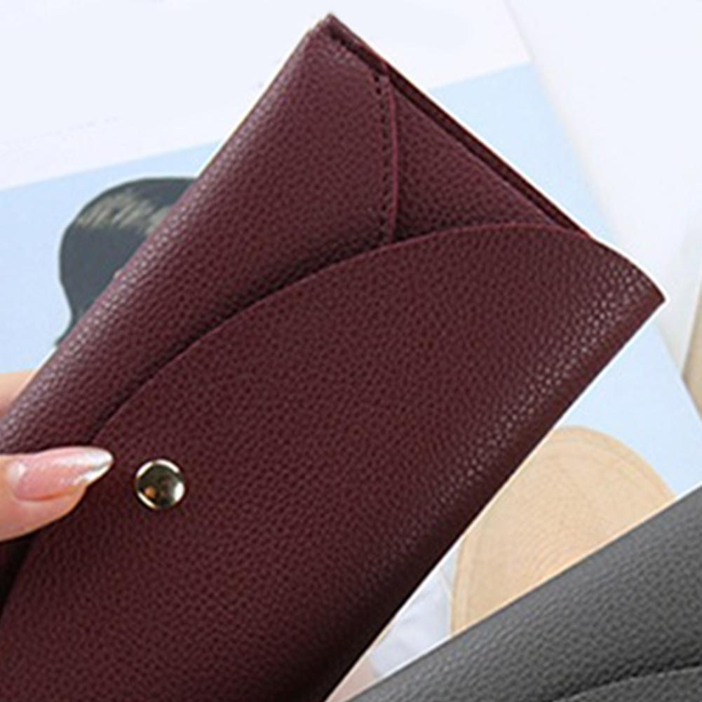 e8fd8eb7bcaa Women Pure Tassels Long Clutch PU Leather Bifold Coin Holder Purse Wallets