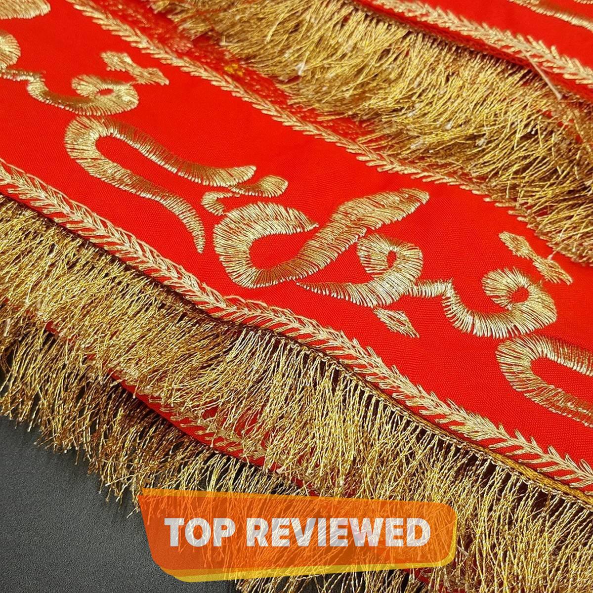 Qabool Hai Traditional Embroidery Bridal Dubata Net Fancy Dress Qubool Hai Dupatta without Name Shadi Mehndi Wedding Gift Nikah Event Nikkah Dupatta Accessories with Fine Tailored Stitch Lace Dupata For Girls Women
