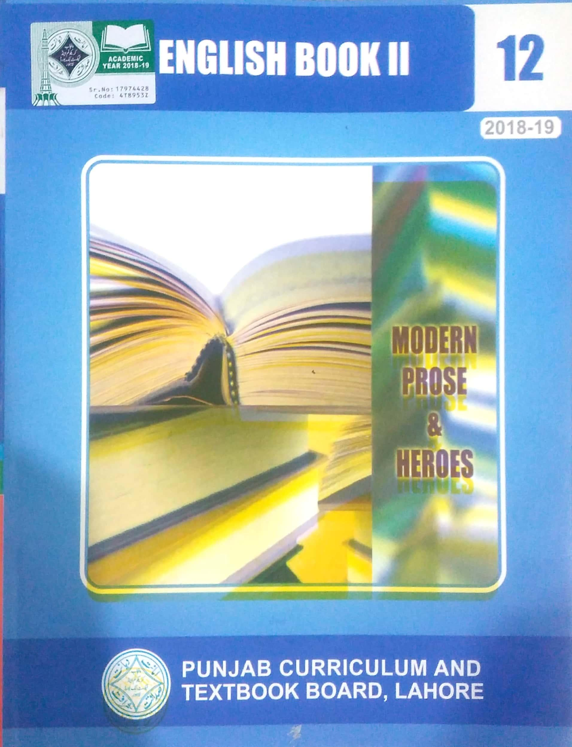 English Book II Class 12 ( PTB )