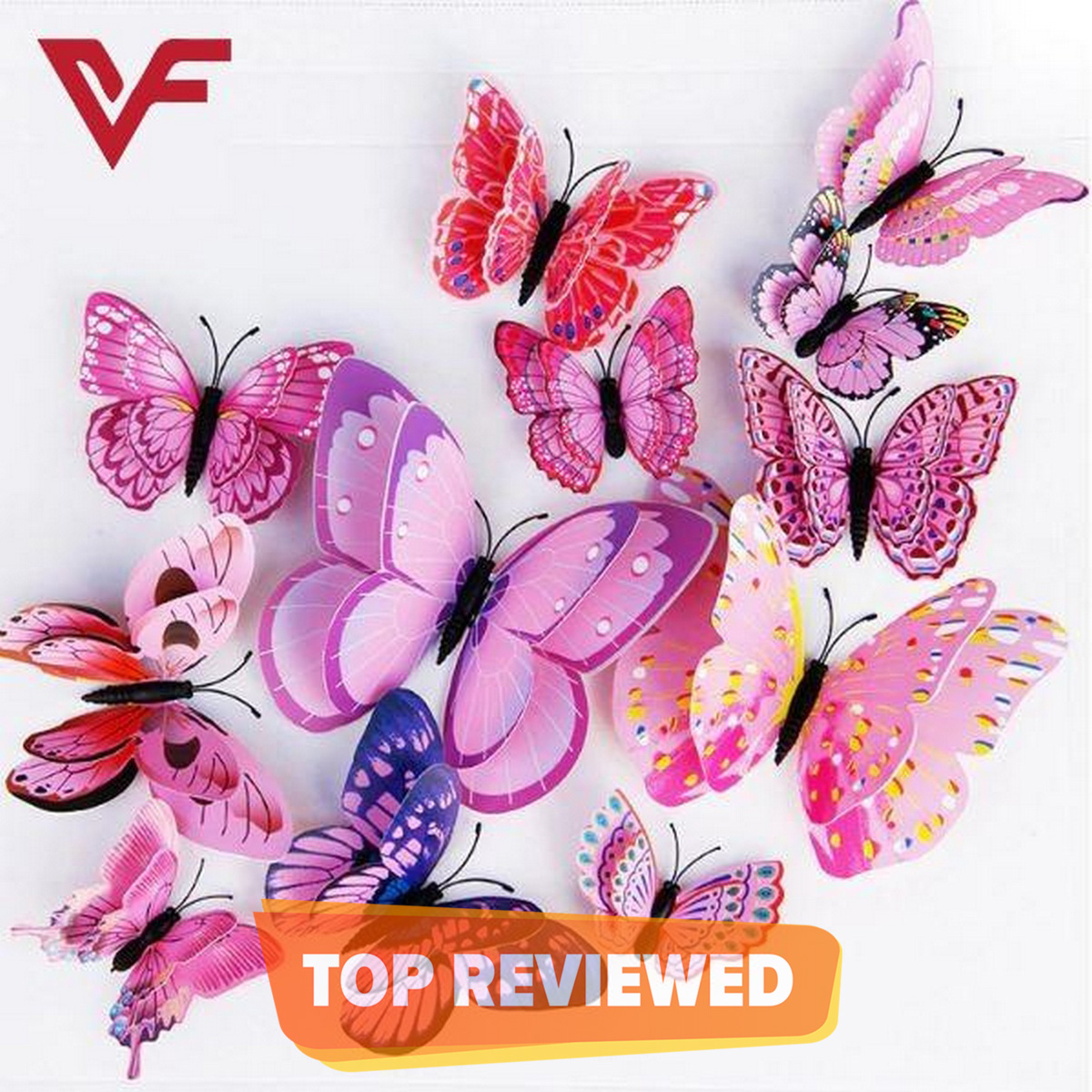 12 Pcs 3D Butterfly Wall Stickers Decoration Magnet Butterflies on the wall DIY Wallpaper 3D PVC