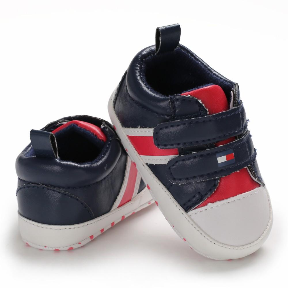 0-18 months beautiful attractive black with red shoes for your kids -islamabad