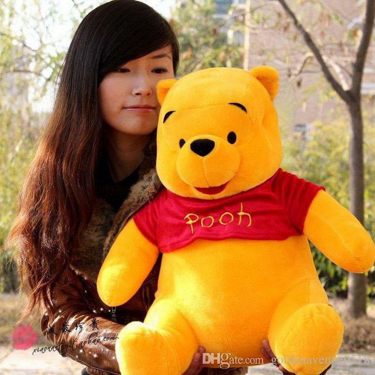 High Quality Winnie The Pooh Stuffed Toy Teddy Bear Baby Lovely Plush Doll Soft Pillow Children Kids Gift Valentines Gift Love Teddy Bear Girl Birthdays Party Gifts Bed Toy Pillow (Available in 9 Inch / 11 Inch / 16 Inch / 22 Inch / 36 Inch )