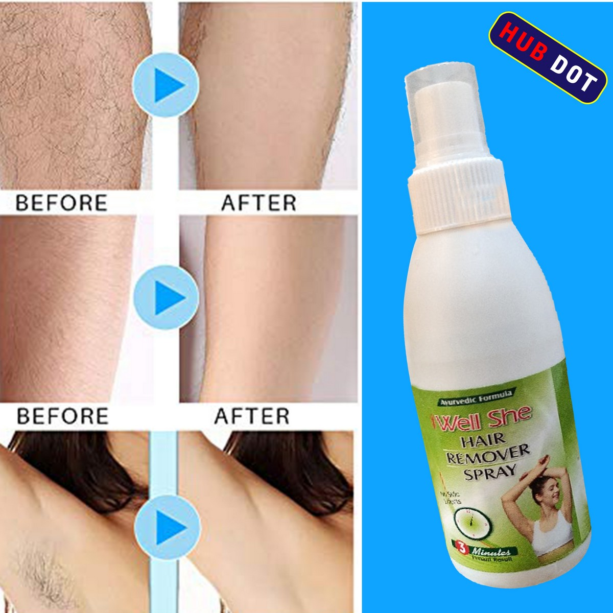 Hair Remover Spray (70 ml) specially for Men and Women