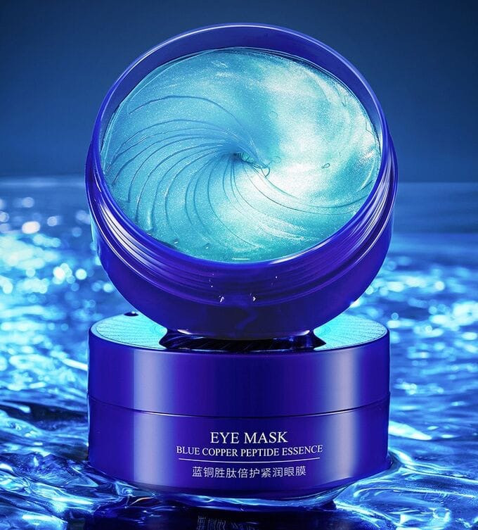 BIOAQUA Hydro Gel With Blue Copper Peptide Eye Mask Patch For Dark Circle Gel (60 Patches)-80g