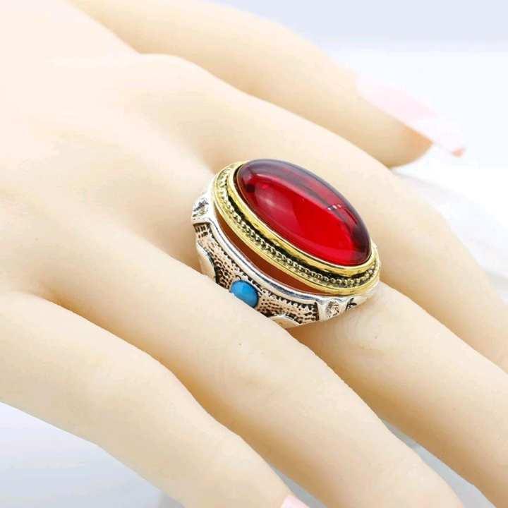 Italian golden and silver anari stone ring for Men