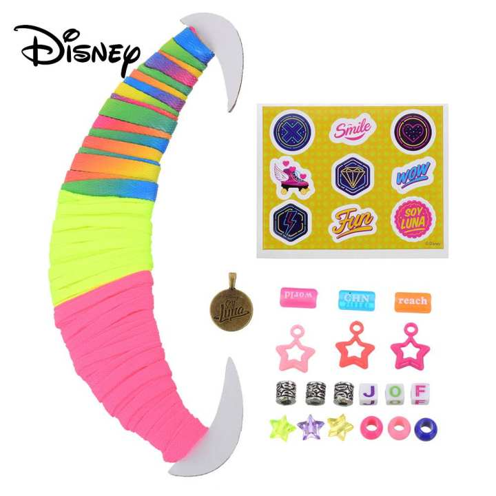Cartoon Disney SOY LUNA Roller Skates Shoe Lace DIY Accessories Colorful Star Beads Pendants Toys Gifts For Kids