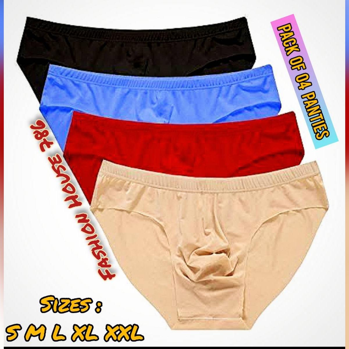 Pack of 4 - Pure Cotton UnderWear for Women/Girls / Cotton Jersey Underwears for Girls Women / Panties for Women Ladies Girls