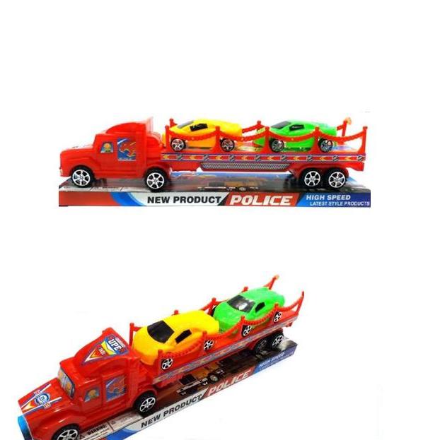 Racer Truck Toys For Kids, Boys, - Car Transporter Truck With 2 Car