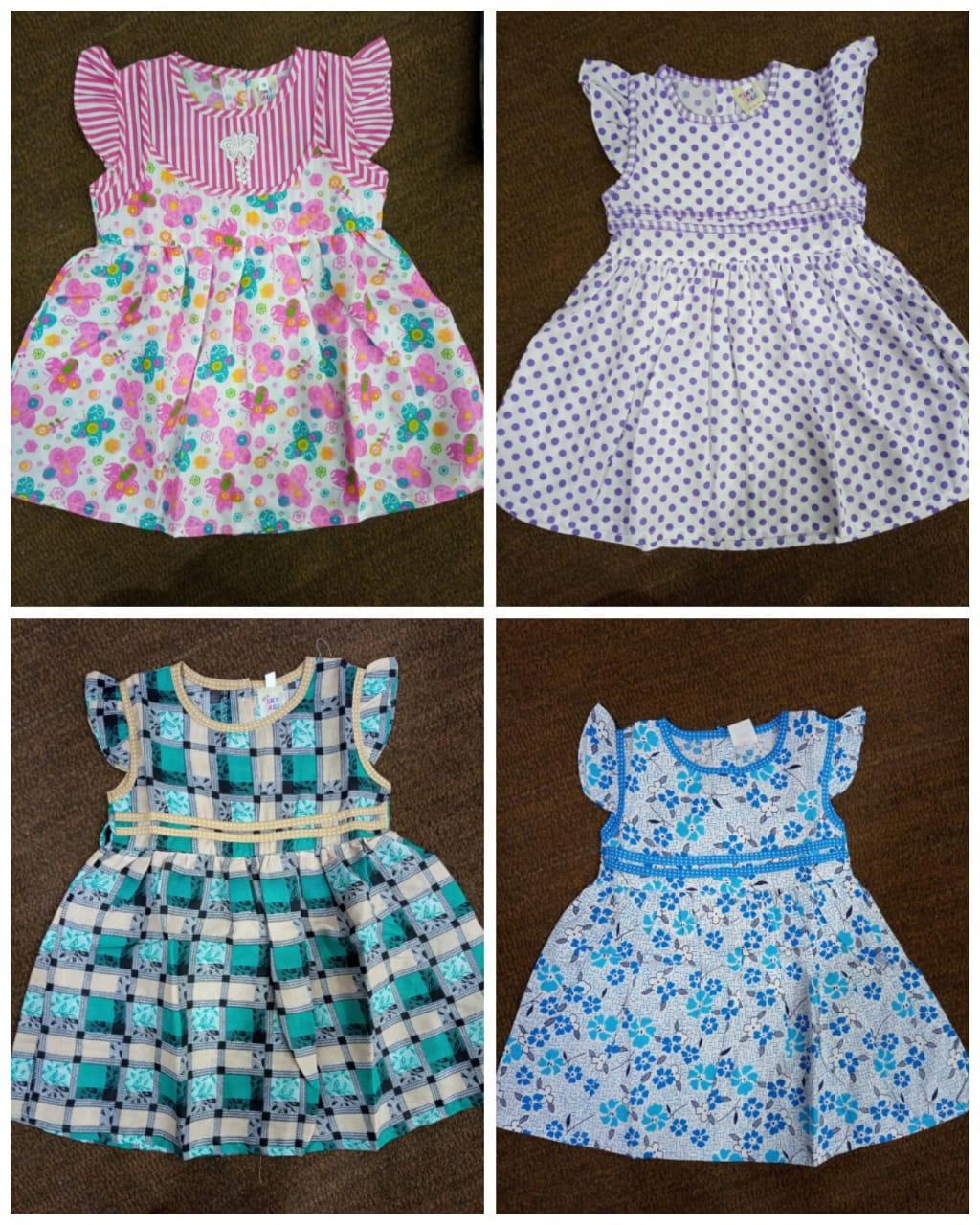 Cotton Frock Pack Of 4 Pec