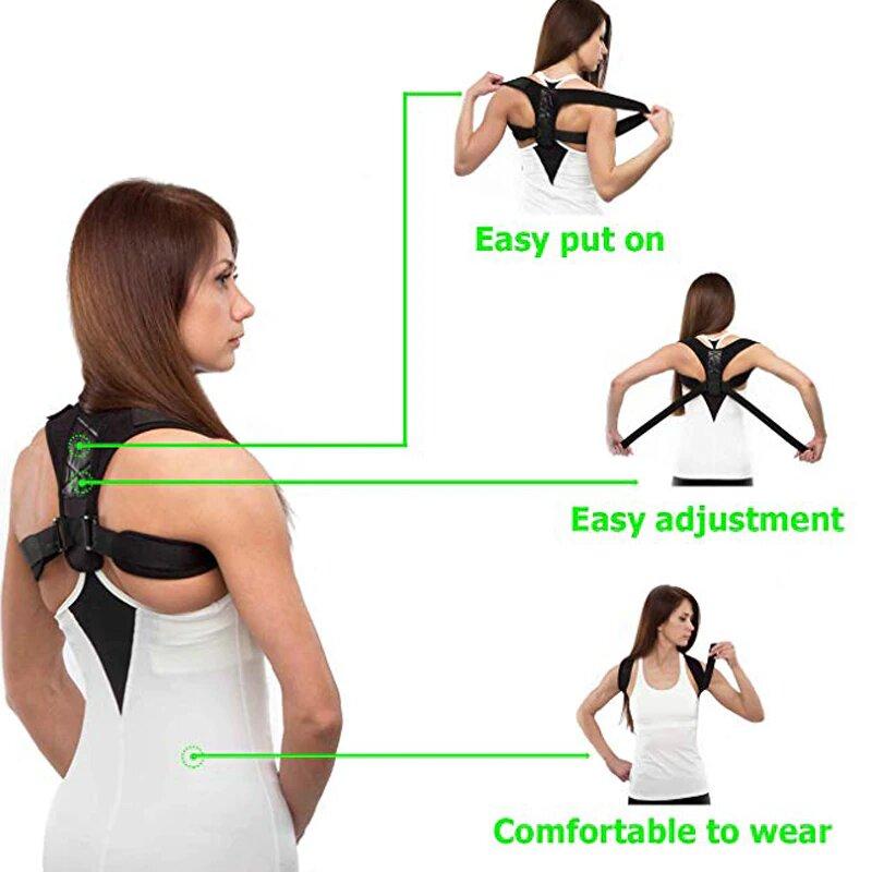Posture Corrector Belt Adjustable - Back Pain Relief Shoulder Back Support Belt
