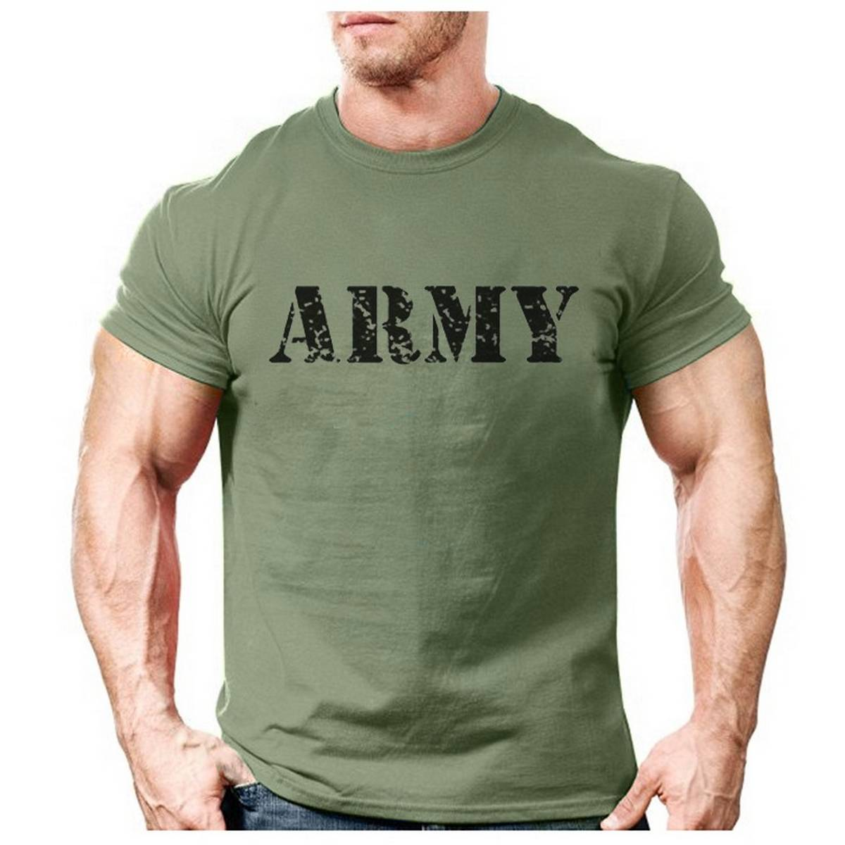 Men's Commando Style  T Shirt T-Shirt Tee   Cotton Sweat T-Shirt Half Sleeves   Army Printed  Gym Wear Suit for Boys & Girls