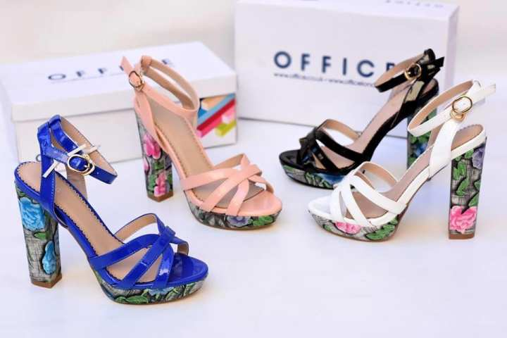 Multicolor Printed Heel Sandal For Women