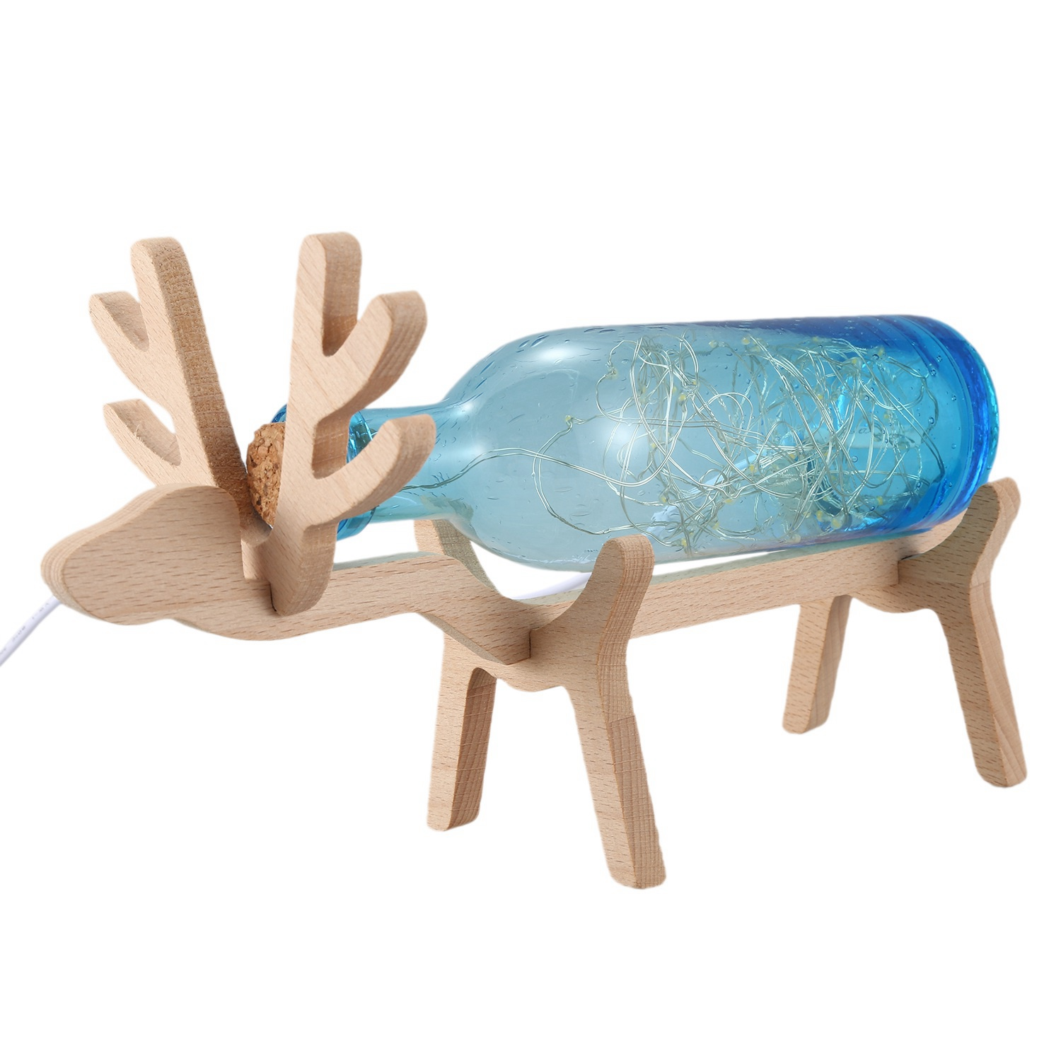 Picture of: Handmade Bubble Glass Deer Lights Night Light Nordic Led Small Table Lamp Dormitory Valentine S Day Gift Usb Table Lamp Buy Online At Best Prices In Pakistan Daraz Pk