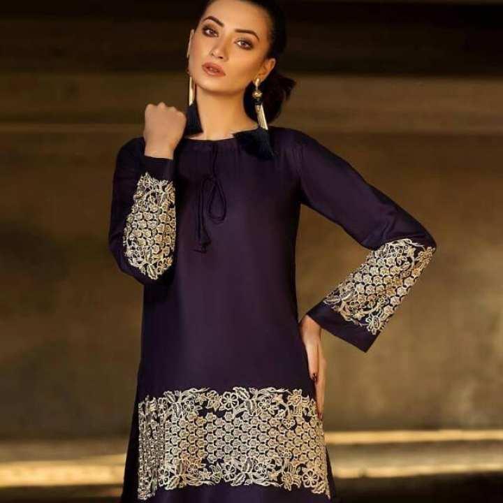 New Golden Embroidery Designer Kurtie For Women