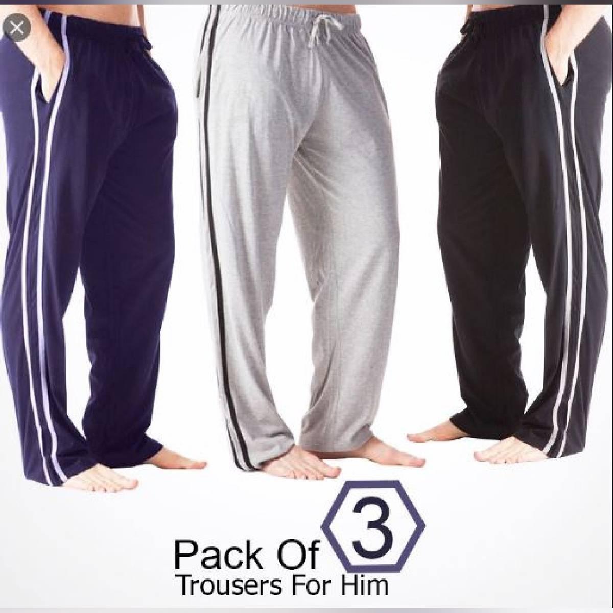 Pack Of 3 New Design Trendy Polyster Trouser For Men Ukcollection
