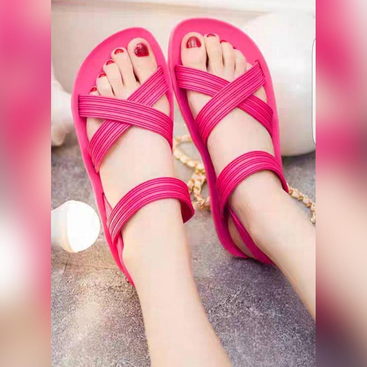 Ladies Rubber Beach Sandals.