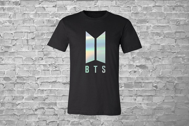 Bts Holographic Printed T Shirt